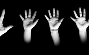 Картинка тень, руки, семья