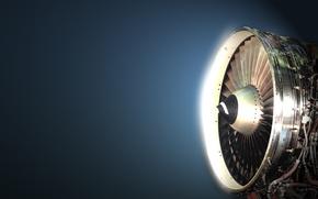 Картинка свет, синий, тень, турбина, turbo, блик, самолета, реактивная