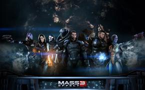 Картинка игры, фантастика, mass effect, shepard, games, sci-fi, mass effect 3, шепард, extended cut, эпик