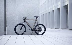 Картинка город, здание, bike
