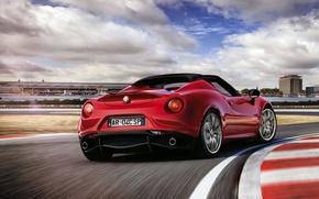 Картинка Alfa Romeo, Spider, Альфа Ромео, Задок, 2015, 4c