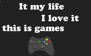 Картинка любовь, текст, фон, минимализм, Игры, пони, джойстик, джостик, слова, хардкор, brony, джоистик