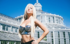 Картинка лето, взгляд, стиль, блондинка