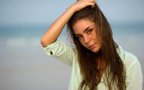 Картинка взгляд, девушка, лицо, модель, красавица, шатенка, восхитительная, Настя, Анастасия Пантелеева