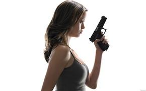 Картинка пистолет, саммер глау, summer glau