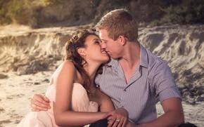 Картинка счастье, поцелуй, пара, влюблённые