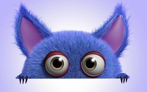 Картинка монстр, monster, cartoon, персонаж, funny, cute, fluffy