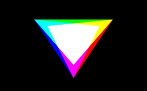 Обои цвета, минимализм, RGB, CMYK