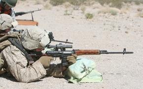 Обои стрельба, СВД, Американский морпех