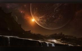 Картинка light, cosmos, planets