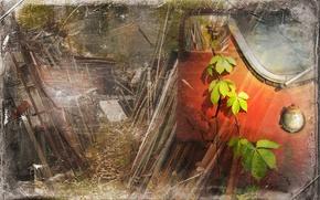 Картинка листья, стиль, фон