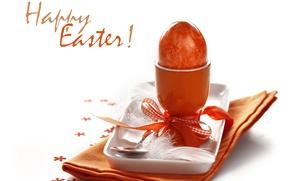 Картинка праздник, яйцо, Пасха, ложка, подставка, салфетка