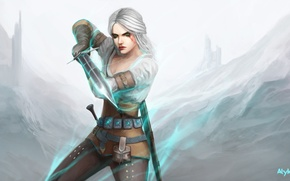 Обои девушка, арт, Ciri, Witcher 3: Wild Hunt, Cirilla
