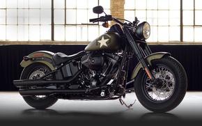 Картинка moto, bike, power, american, Harley-Davidson, Slim, Softail, 2016, v-twin, cassic