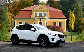 Картинка белый, джип, white, паркетник, Mazda CX-5