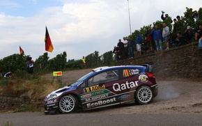 Картинка Ford, Поворот, Форд, WRC, Rally, Ралли, Fiesta, Neuville