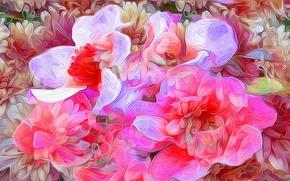 Картинка цветы, природа, рендеринг, лепестки