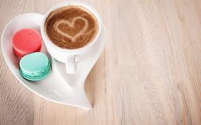 Картинка любовь, сердце, кофе, молоко, печенье, чашка, сладости, love, десерт, heart, food, какао, coffee, cream, dessert, …