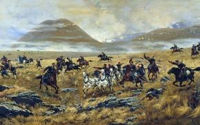 Картинка война, Кившенко, казаки, солдаты, русско-турецкая война, битва, русские, турки, художник