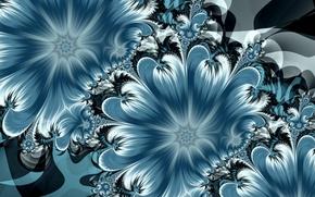 Картинка цветы, абстракция, art, abstraktsiya