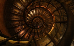 Картинка Paris, France, Europe, inside, Arc de Triomphe, spiral, stairs, monument, L'Arc de Triomphe de l'Etoile