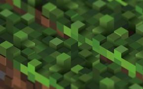 Обои minecraft, блок, майнкрафт, куб