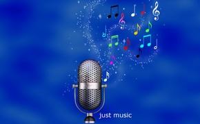 Картинка ноты, обои, music, звук, микрофон