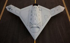 Картинка США, полёт, первый, ВМС, Боевой дрон, Х47В