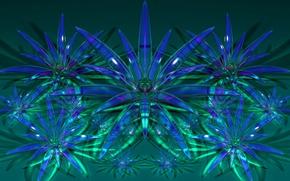 Картинка стекло, цветы, букет, лепестки, пластик