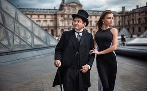 Картинка девушка, город, платье, мужчина, Ivan Gorokhov, From my Worksop in Paris