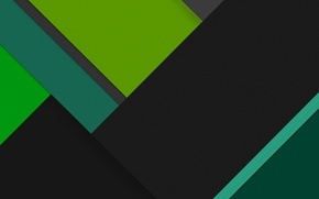 Картинка Android, Green, Black, Line, Abstractions
