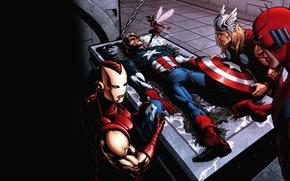 Обои железный человек, marvel, комикс, тор, comics, captain america, капитан америка, thor, iron man