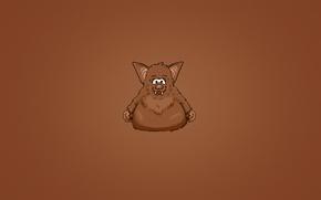 Картинка темный фон, животное, зубы, летучая мышь, bat, пухлый, толстая, мохнатая