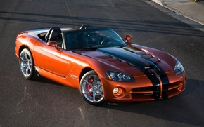 Обои Дорога, Оранжевый, Dodge Viper SRT 10