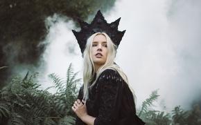 Картинка дым, корона, папоротник, Lauren Hallworth