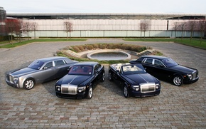 Картинка пруд, Phantom, четыре, Rolls&Royce
