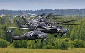 Картинка полет, ударные, вертолёты, Mi-28