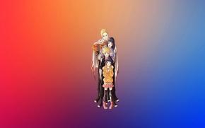 Картинка радость, счастье, радуга, семья, Наруто, naruto, синие волосы, блондин, Хината, чакра, hinata, узумаки, бьякуган, коноха, …