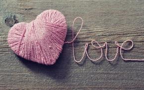Картинка любовь, клубок, фон, розовый, обои, настроения, сердце, wallpaper, love, нитки, широкоформатные, background, полноэкранные, HD wallpapers, …