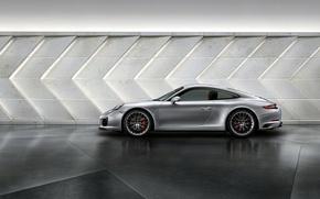 Обои 911, Porsche, порше, сбоку, Carrera, каррера