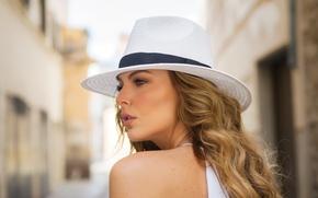 Картинка модель, волосы, шляпа, актриса, Marjorie de Sousa