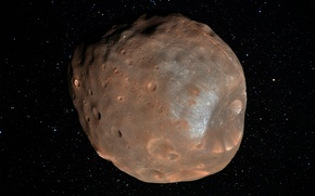 Картинка звезды, спутник, кратеры, Фобос, Phobos