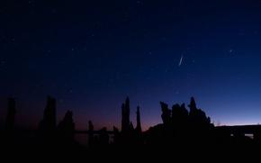 Обои метеор, ночь, звезды