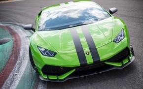 Картинка green, lamborghini, huracan, aerodynamic, testdrive