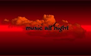 Картинка Red, Music, Music all night
