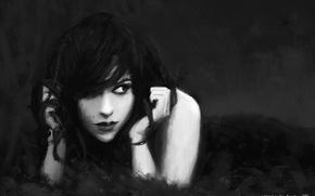 Картинка девушка, стиль, готика, арт