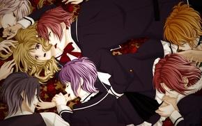 Картинка девушка, парни, вампиры, Diabolik Lovers