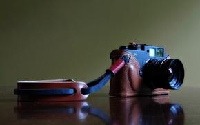 Картинка отражение, фон, widescreen, обои, камера, фотоаппарат, wallpaper, широкоформатные, camera, background, чехол, reflection, полноэкранные, HD wallpapers, …