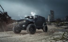 Обои Black, Car, Jeep, Wrangel, Fuel