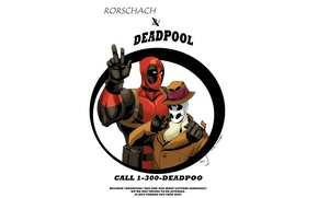 Картинка Watchmen, Роршах, хранители, Deadpool, комикс, MARVEL, Rorschach, Марвел, Дедпул
